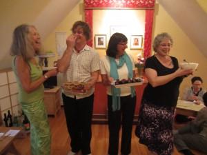 Dessert Servers (L to R): Madeline Conacher, Sangye Martin, Marie O'Brien, and Suzanne Bassett
